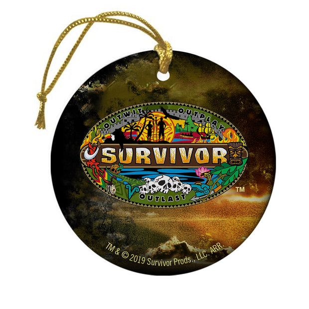 Survivor Mashup Logo Double Sided Ornament | Official CBS Entertainment Store