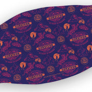 Survivor 20 Years 40 Seasons All Over Purple Logo Pattern Washable Face Mask | Official CBS Entertainment Store