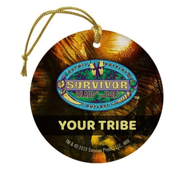 Survivor Personalized Season 39 Island of the Idols Logo Double Sided Ornament | Official CBS Entertainment Store
