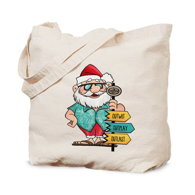 Survivor Tropical Santa Canvas Tote Bag | Official CBS Entertainment Store