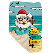 Survivor Tropical Santa Sherpa Blanket | Official CBS Entertainment Store