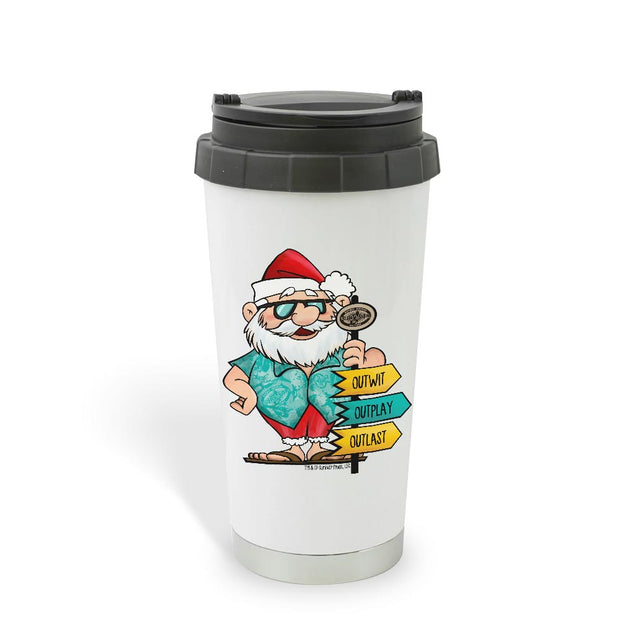 Survivor Tropical Santa 16 oz Travel Mug | Official CBS Entertainment Store