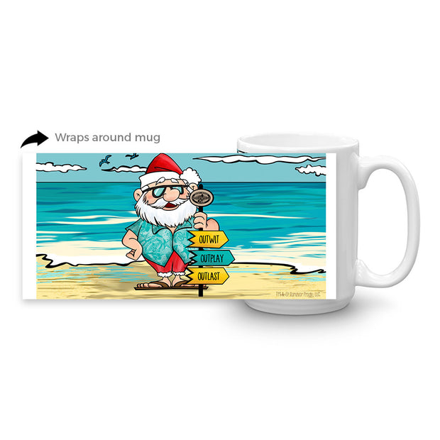 Survivor Tropical Santa White Mug | Official CBS Entertainment Store