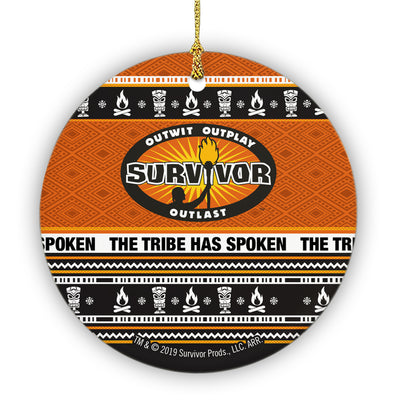 Survivor The Tribe Has Spoken Round Ceramic Ornament | Official CBS Entertainment Store
