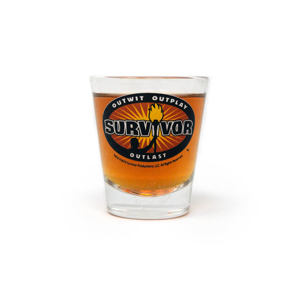Survivor Outwit, Outplay, Outlast Shot Glass | Official CBS Entertainment Store