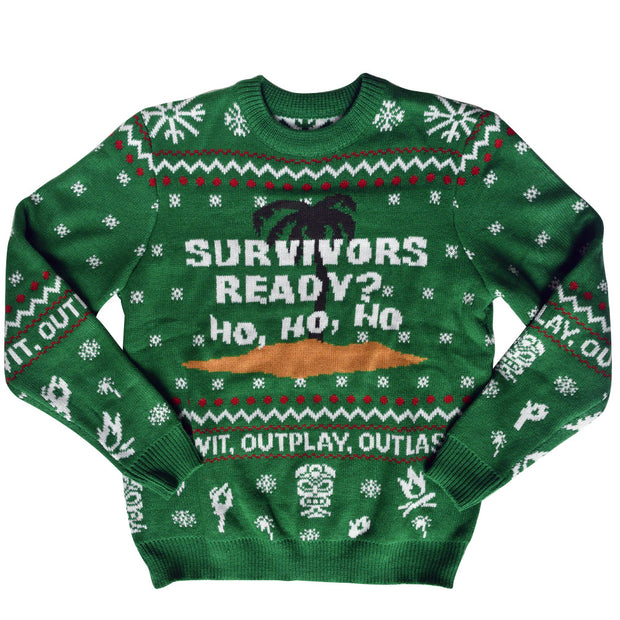 Survivor Survivors Ready Ho Ho Ho Ugly Holiday Sweater | Official CBS Entertainment Store