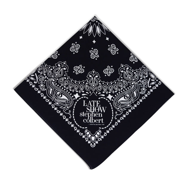 The Late Show with Stephen Colbert Logo Paisley Bandana | Official CBS Entertainment Store