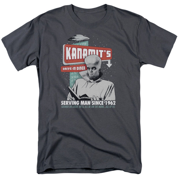 The Twilight Zone Kanamit's Diner Adult Short Sleeve T-Shirt