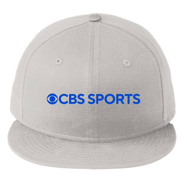 CBS Sports Logo Embroidered Flat Bill Hat