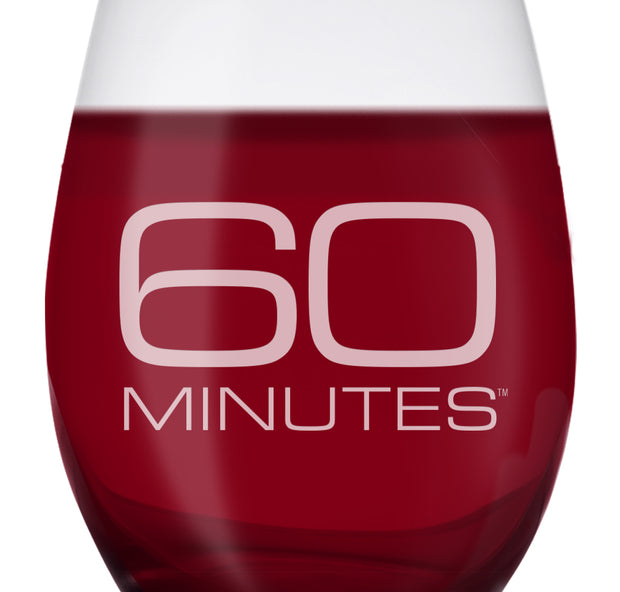 CBS News 60 Minutes Laser Engraved Stemless Wine Glass | Official CBS Entertainment Store