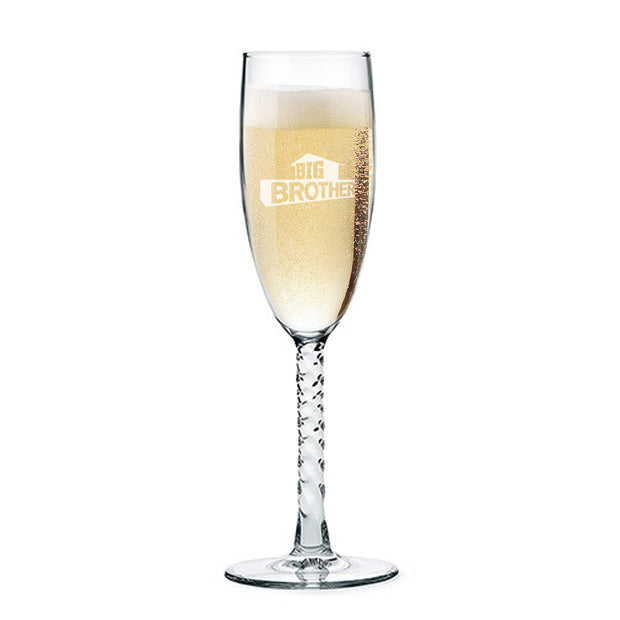 Big Brother Laser Etched Champagne Flute | Official CBS Entertainment Store