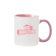 Big Brother Hashtag Personalized Pink Two-Tone 11 oz Mug | Official CBS Entertainment Store