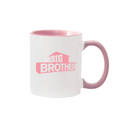 Big Brother Hashtag Personalized Pink Two-Tone 11 oz Mug