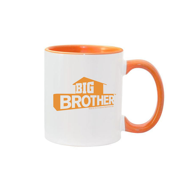 Big Brother Hashtag Personalized Orange Two-Tone 11 oz Mug