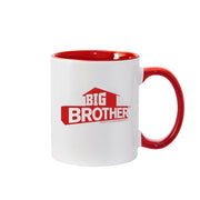 Big Brother Hashtag Personalized Red Two-Tone 11 oz Mug