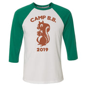 Big Brother Camp B.B. 2019 3/4 Sleeve Baseball T-Shirt