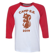 Big Brother Camp B.B. 2019 3/4 Sleeve Baseball T-Shirt | Official CBS Entertainment Store