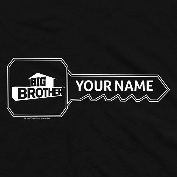 Big Brother Key Personalized Adult Short Sleeve T-Shirt