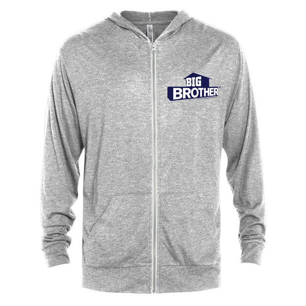 Big Brother Logo Tri-Blend Zip-Up Hooded Sweatshirt | Official CBS Entertainment Store