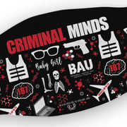 Criminal Minds Icon Mashup Washable Face Mask | Official CBS Entertainment Store
