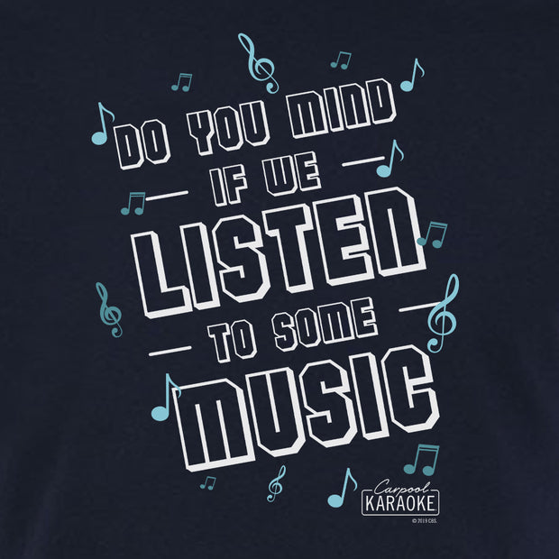 Carpool Karaoke Shall We Listen To Some Music Adult Short Sleeve T-Shirt | Official CBS Entertainment Store