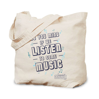 Carpool Karaoke Shall We Listen To Some Music Canvas Tote Bag | Official CBS Entertainment Store