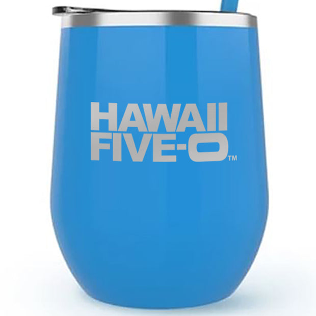 Hawaii Five-0 Logo 12 oz Stainless Steel Wine Tumbler | Official CBS Entertainment Store