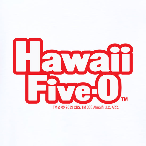 Hawaii Five-0 Retro Logo 3/4 Sleeve Baseball T-Shirt