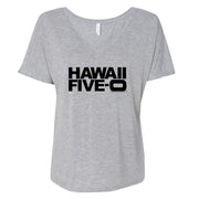 Hawaii Five-O Logo Women's Relaxed V-Neck T-Shirt