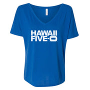 Hawaii Five-0 Logo Women's Relaxed V-Neck T-Shirt | Official CBS Entertainment Store