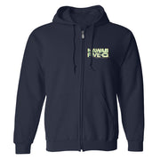 Hawaii Five-0 3D Logo Fleece Zip-Up Hooded Sweatshirt