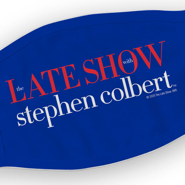 The Late Show with Stephen Colbert Logo Washable Face Mask | Official CBS Entertainment Store