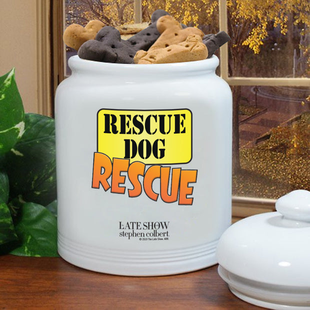 The Late Show with Stephen Colbert Rescue Dog Rescue Treat Jar