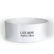 The Late Show with Stephen Colbert Rescue Dog Rescue Personalized Pet Bowl