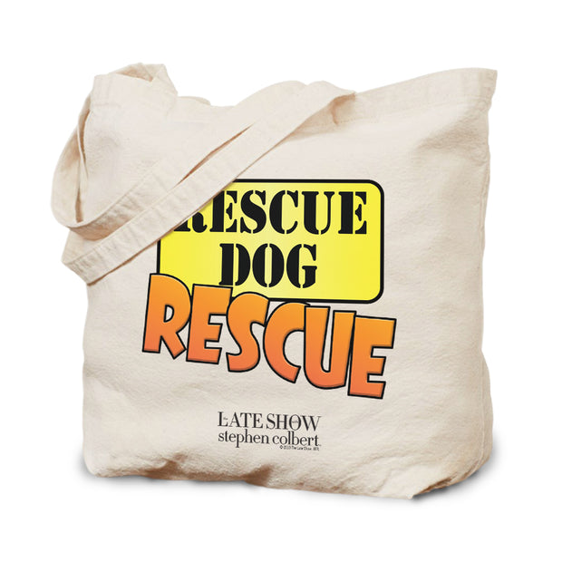 The Late Show with Stephen Colbert Rescue Dog Rescue Canvas Tote