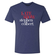 The Late Show with Stephen Colbert Logo Men's Tri-Blend Short Sleeve T-Shirt | Official CBS Entertainment Store