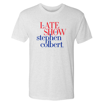 The Late Show with Stephen Colbert Logo Men's Tri-Blend Short Sleeve T-Shirt