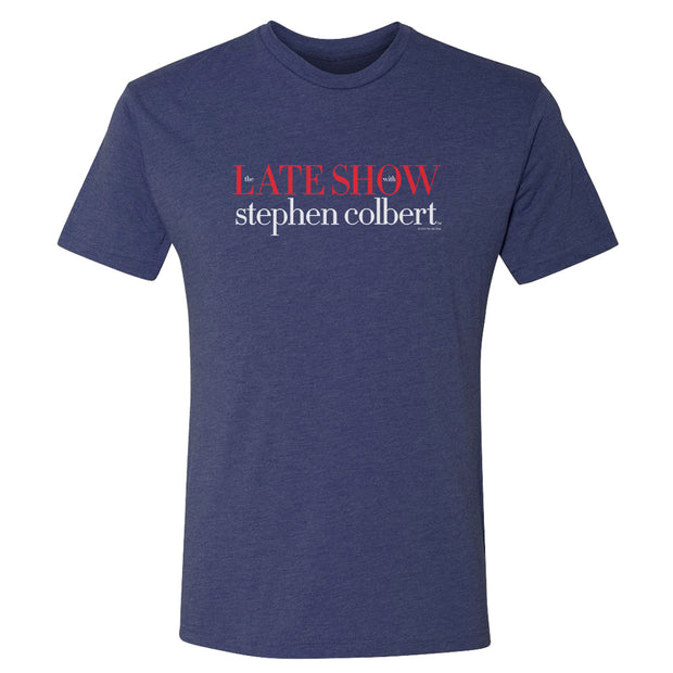 The Late Show with Stephen Colbert Men's Tri-Blend Short Sleeve T-Shirt | Official CBS Entertainment Store