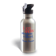 The Late Show with Stephen Colbert Personalized Stainless Steel Water Bottle