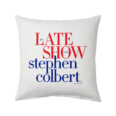 The Late Show with Stephen Colbert Throw Pillow