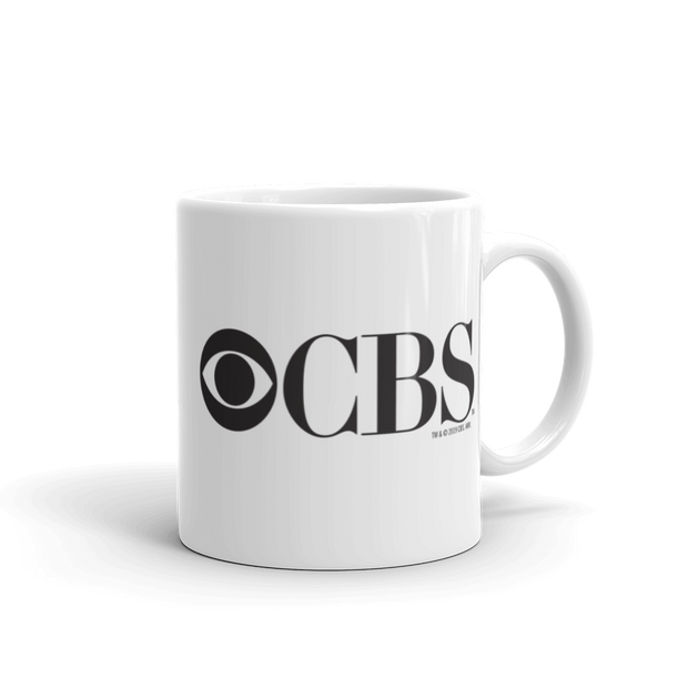 CBS Vintage Logo White Mug | Official CBS Entertainment Store