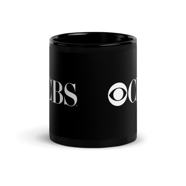 CBS Vintage Logo Black Mug | Official CBS Entertainment Store
