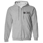 CBS Vintage Logo Fleece Zip-Up Hooded Sweatshirt