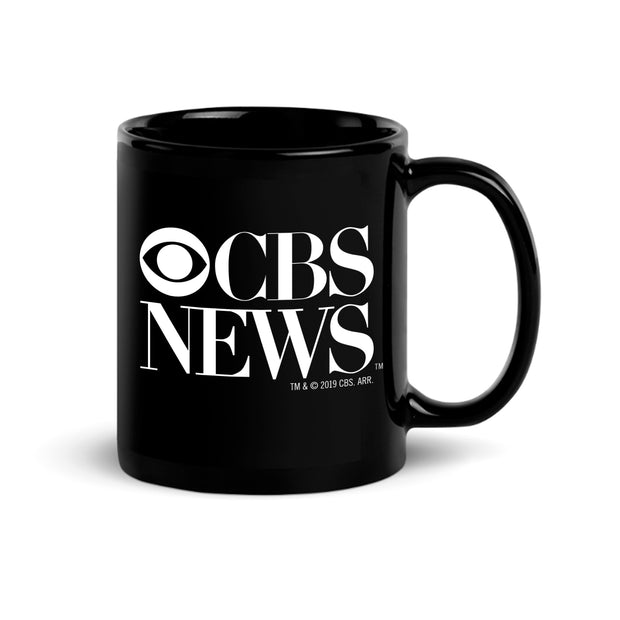 CBS News Vintage Logo Black Mug | Official CBS Entertainment Store