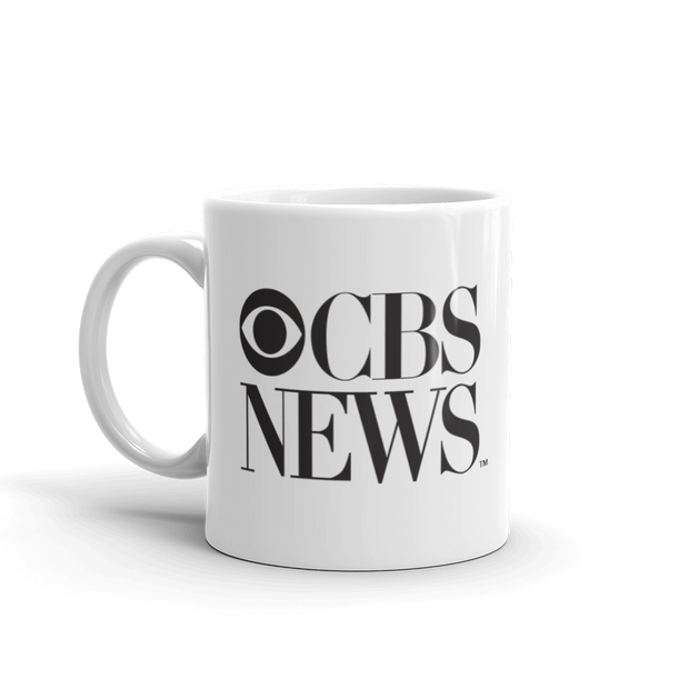 CBS News Vintage Logo White Mug | Official CBS Entertainment Store