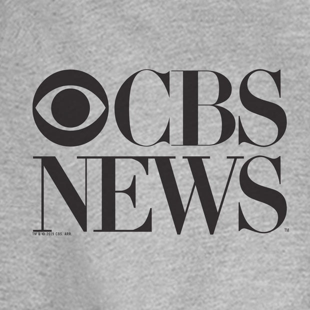 CBS News Vintage Logo Fleece Zip-Up Hooded Sweatshirt