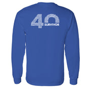 Survivor 40th Season Anniversary Logo Adult Long Sleeve T-Shirt