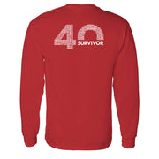 Survivor 40th Season Anniversary Logo Adult Long Sleeve T-Shirt | Official CBS Entertainment Store