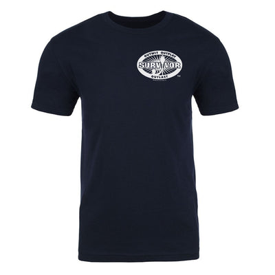 Survivor 40th Season Anniversary Logo Adult Short Sleeve T-Shirt