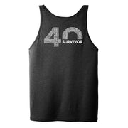 Survivor 40th Season Anniversary Logo Adult Tank Top